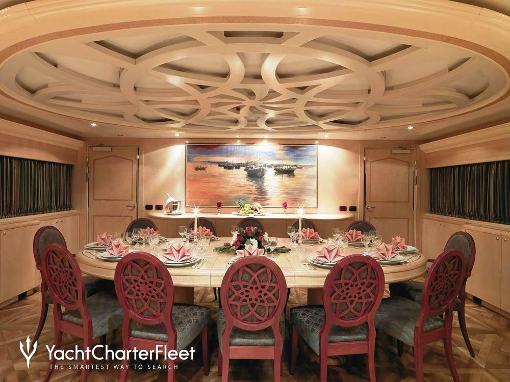 Lady feryal yacht cantieri di fiumicino yacht charter for Q station dining room