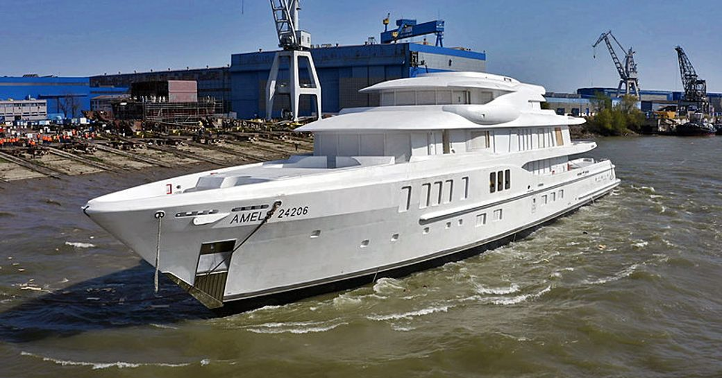 amels superyacht after launching