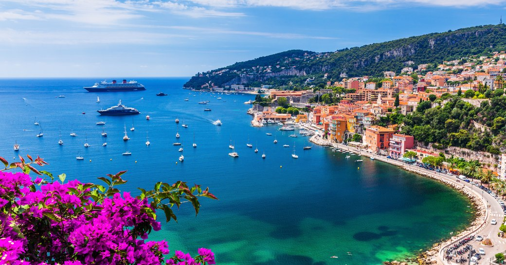 View over Villefranche on the French Riviera