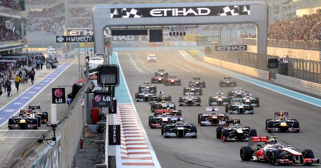 Abu Dhabi Grand Prix gets underway on the Yas Circuit Marina