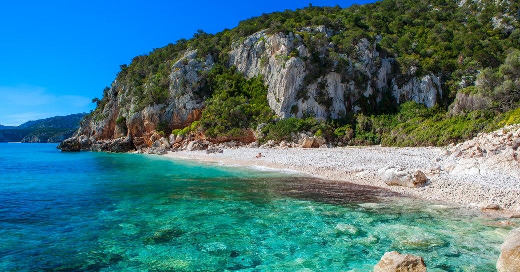 Beach on the coast of Sardinia