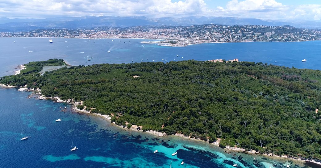Lerin Islands off the coast of Cannes, South of France