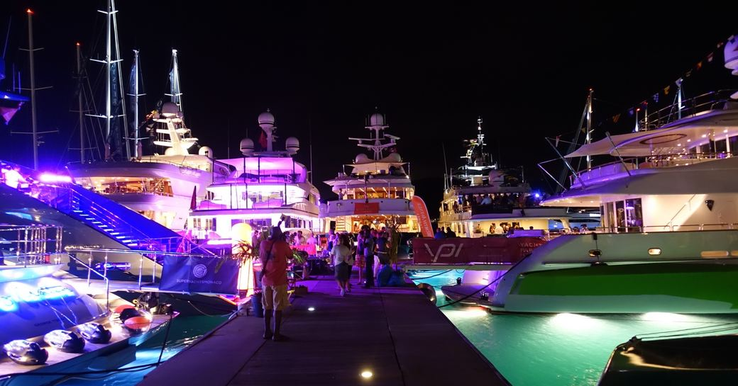 yacht hopping at the Antigua Charter Yacht Show