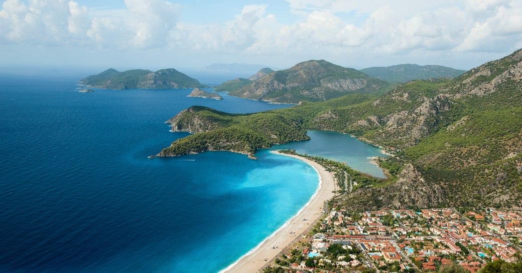 Spectacular mountainous coastline in Turkey