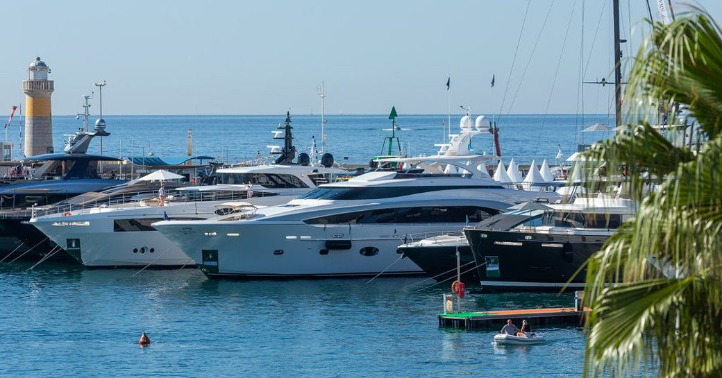 the Super Yachts Extension in the Old Port at the Cannes Yachting Festival