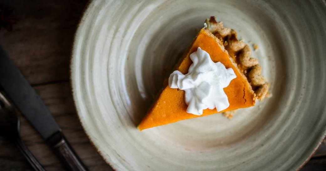 sweet potato pie dished up on a Virgin Islands yacht charter