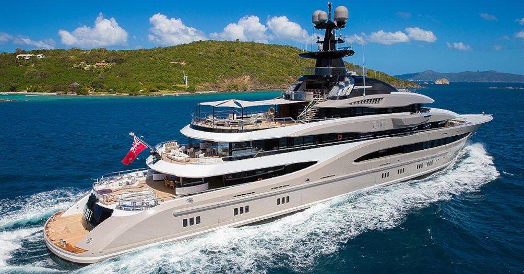 Superyacht KISMET underway