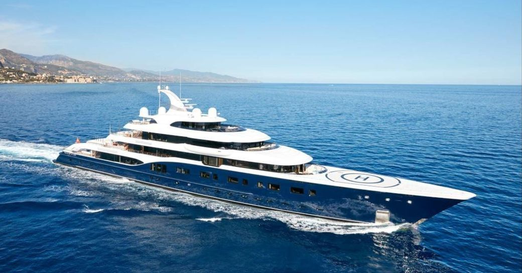 Feadship charter yacht SYMPHONY underway