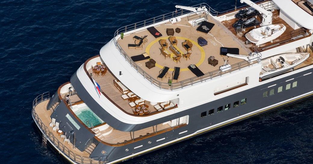 Legend yacht aerial image