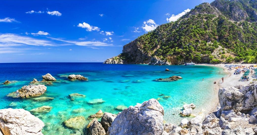 Stunning Apella Beach on Karpathos Island, Greece