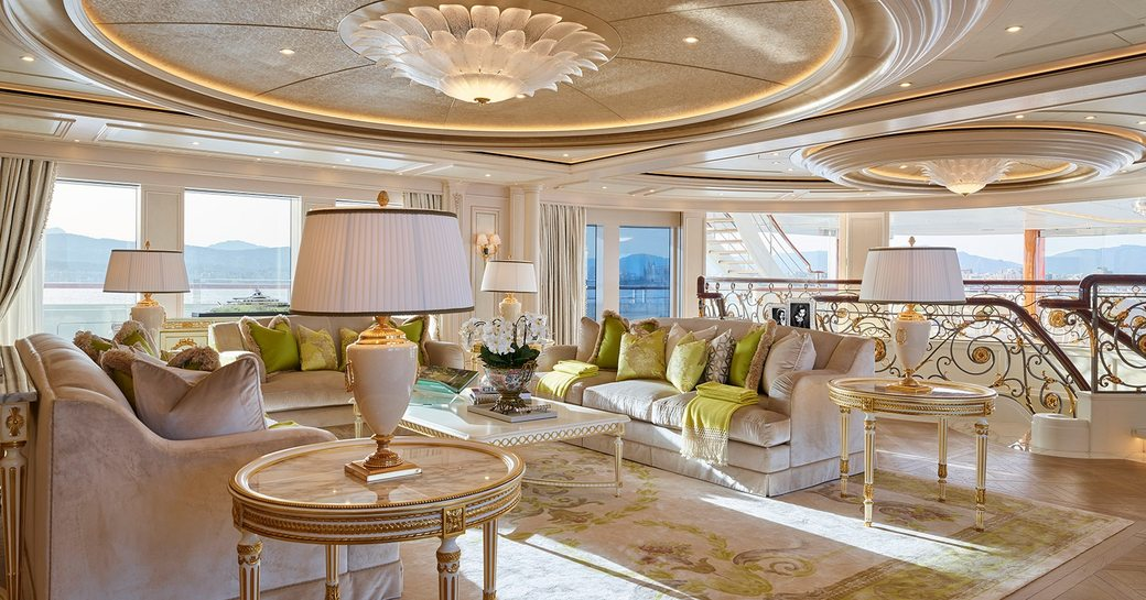 EXCLUSIVE: 111m Lurssen superyacht TIS hull repainted beige and renamed 'Lady Gulya'  photo 4