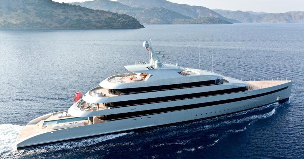 Feadship superyacht SAVANNAH underway