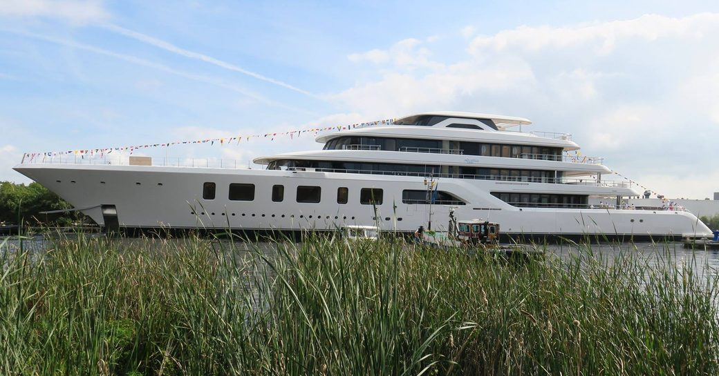Brand New 92m Feadship Superyacht AQUARIUS Launched In Aalsmeer photo 1