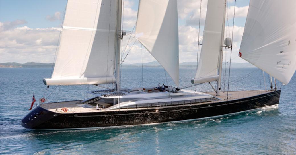 superyacht VERTIGO cruising on a luxury yacht charter in the Caribbean
