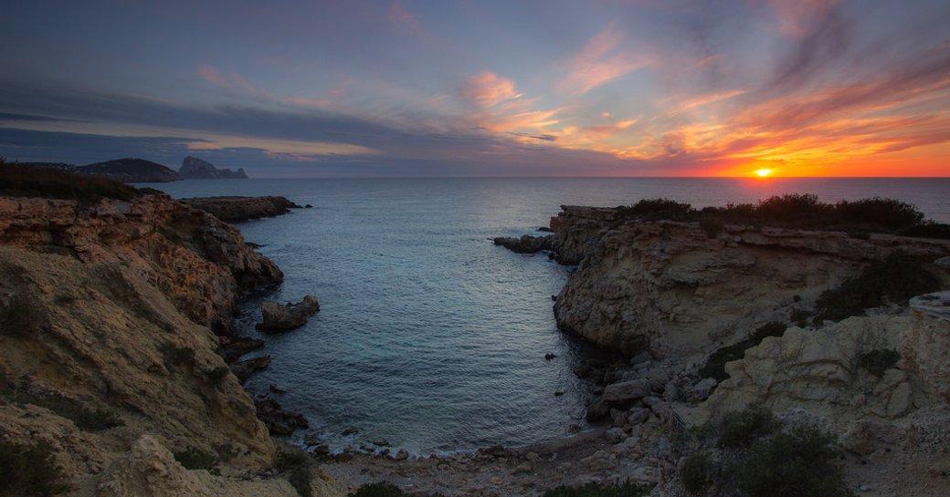 Cala Llentia beach in Ibiza in the Balearics