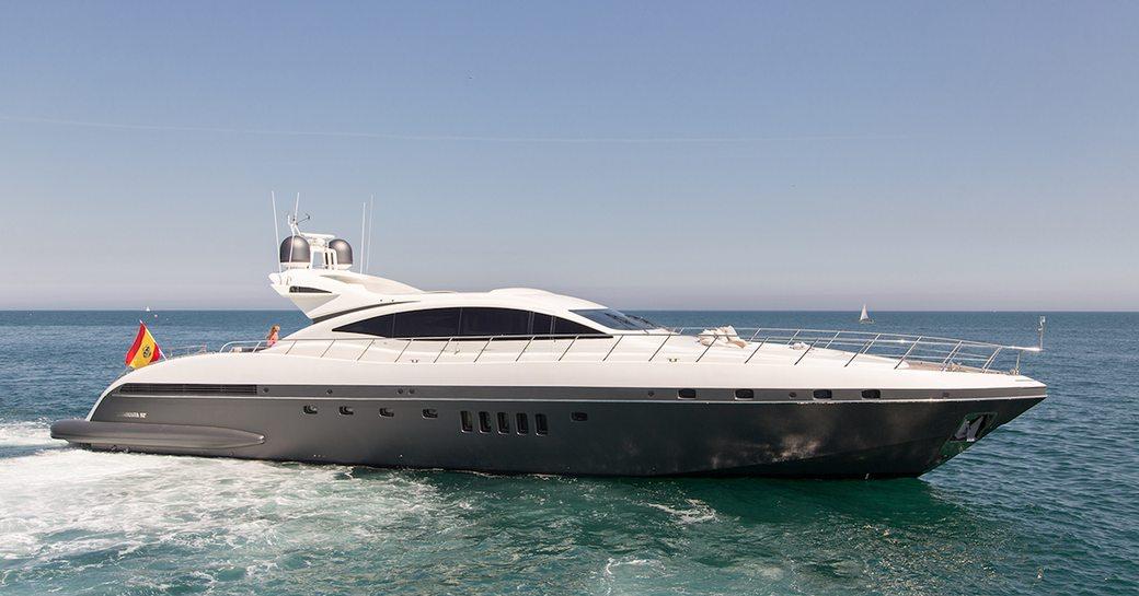 Five stars motor yacht cruising waters