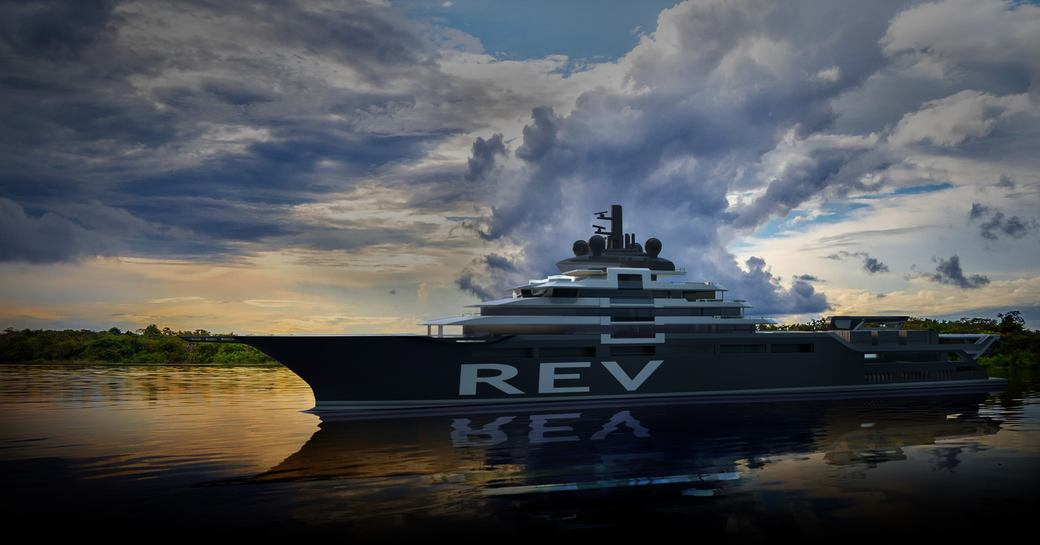 A graphic of superyacht REV