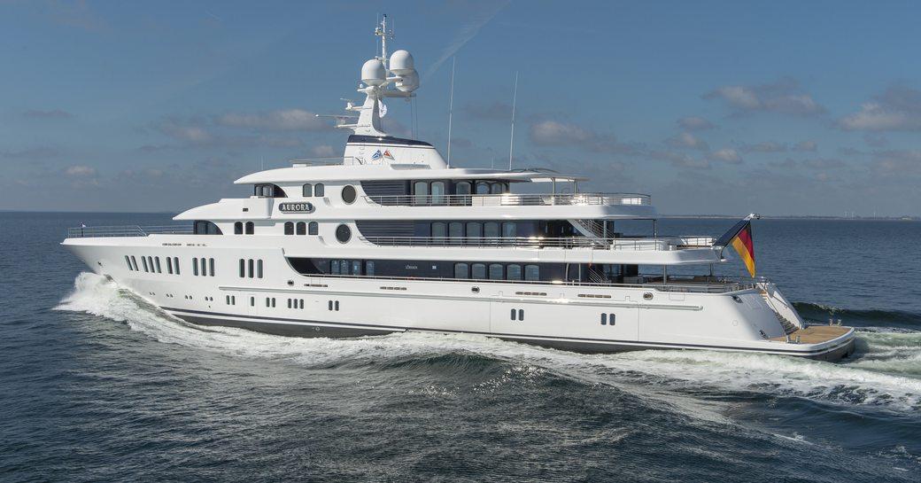 74m Lurssen Superyacht AURORA Delivered photo 1