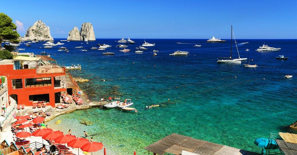 Marina Piccola beach, Capri, Italy