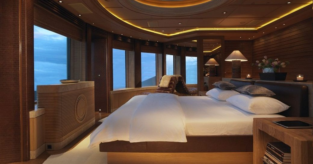 owners cabin on luxury yacht naia