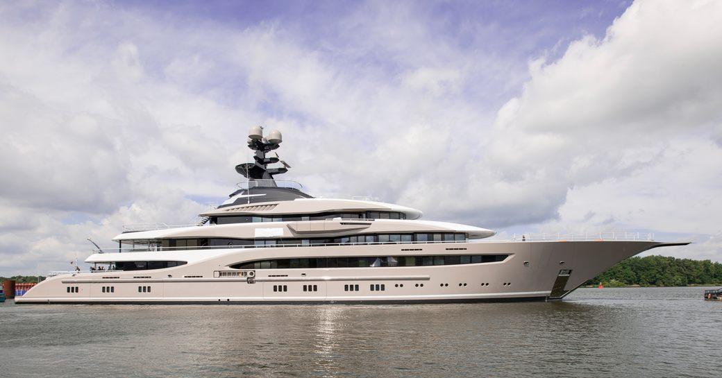 Impressive profile of new Lurssen superyacht 'Kismet'