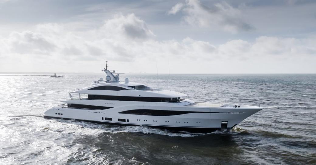 feadship charter yacht arrow delivered in 2020