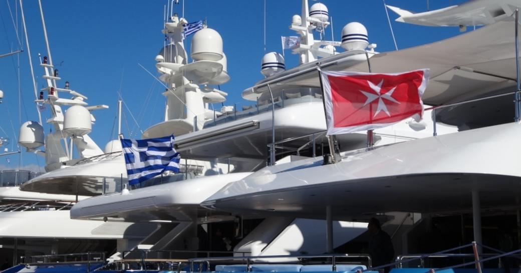 Variation of flagged yachts at MEDYS 2014