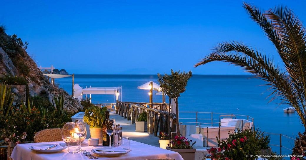 Conca De lSogno, a beach club and restaurant popular with celebrities