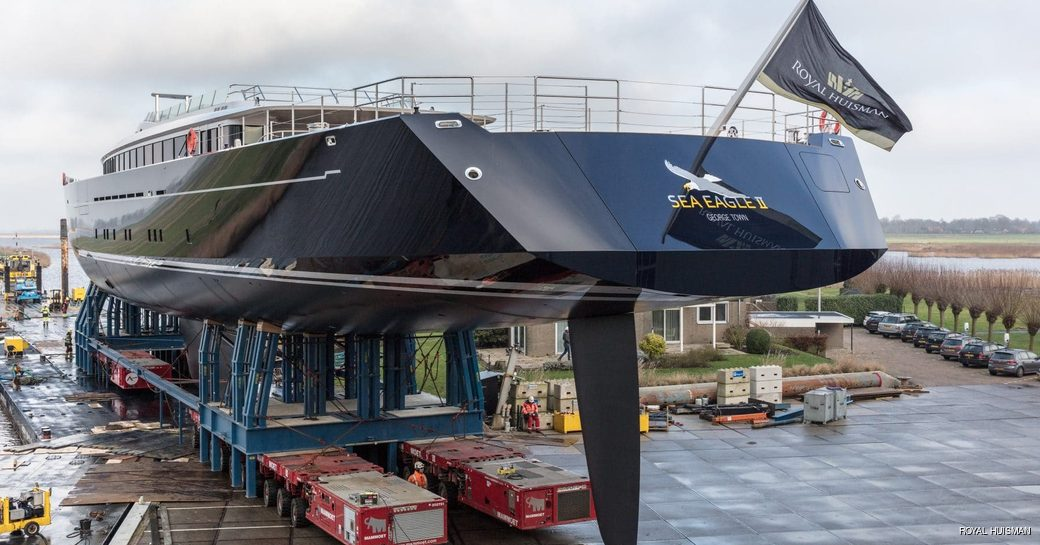 Sea Eagle II superyacht transom door