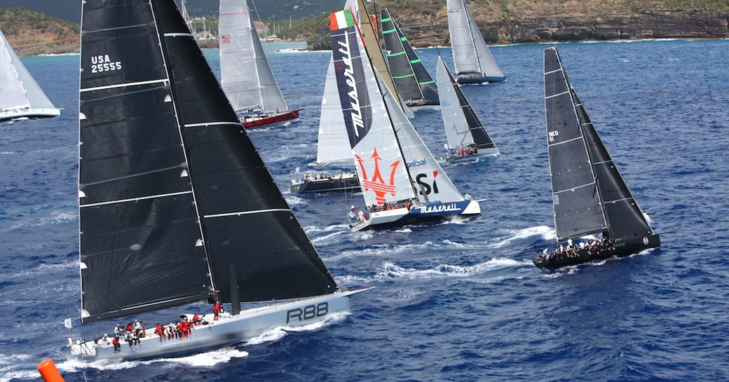 yachts prepare for action at the RORC Caribbean 600