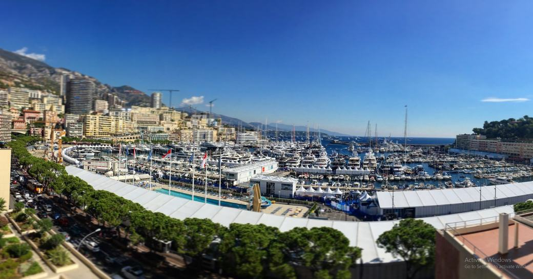 the world's most desirable superyachts line up in Port Hercules for the Monaco Yacht Show 2016