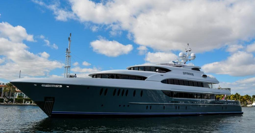 superyacht SOVEREIGN opens for luxury yacht charters in the Caribbean
