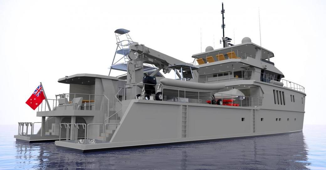 A graphic rendering of superyacht The Beast