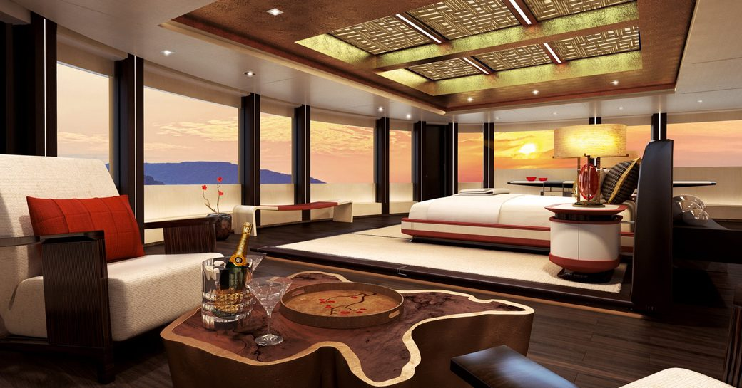 New renderings paint a picture of serenity aboard 88m megayacht 'Illusion Plus' photo 2