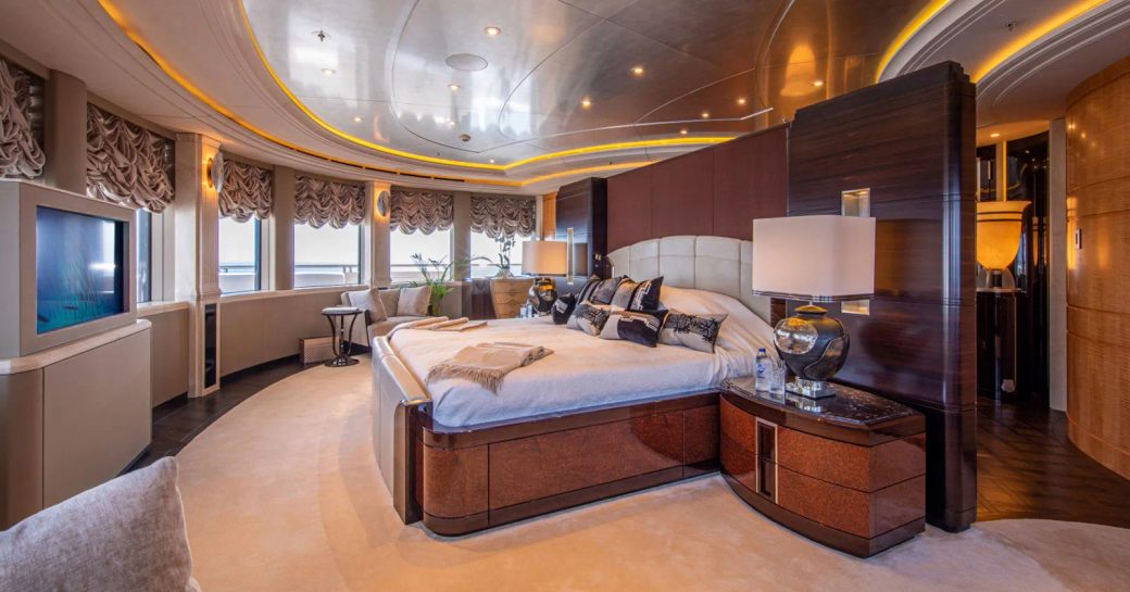 Master suite onboard MY Valerie