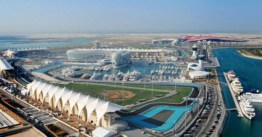 track and super yachts at the Abu Dhabi Grand Prix