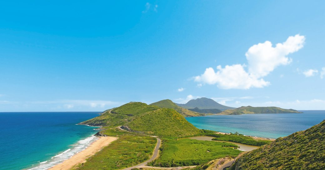 St Kitts mountains in the Caribbean