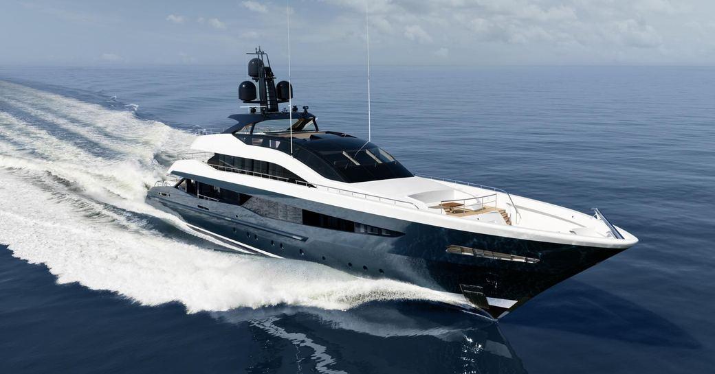 motor yacht Irisha underway on a Mediterranean yacht charter
