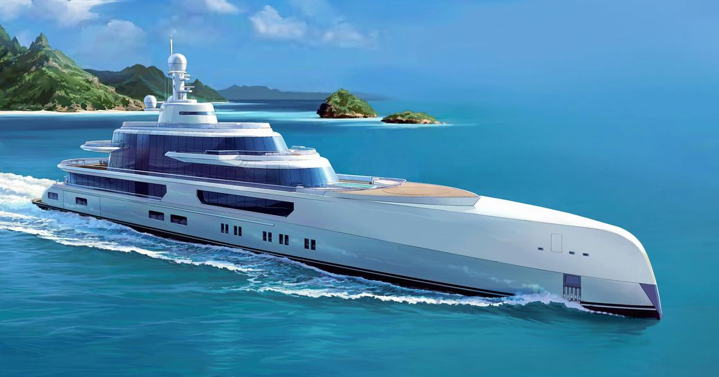 Rendering of luxury yacht EXCELLENCE