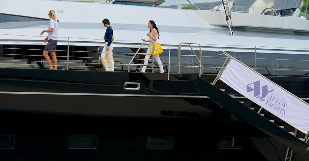 Vertigo charter yacht at Singapore yacht show