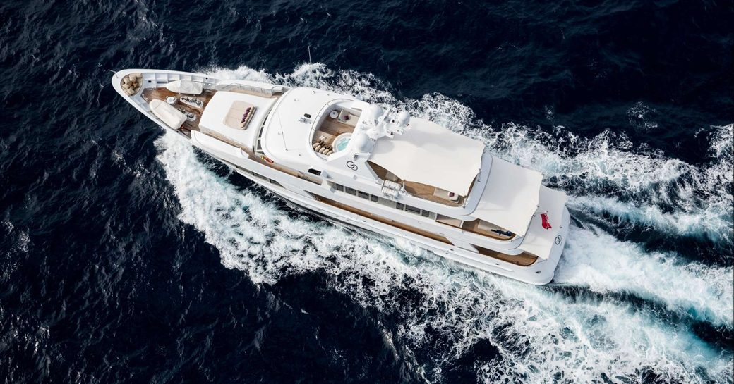 Motor yacht GO by Feadship at sea