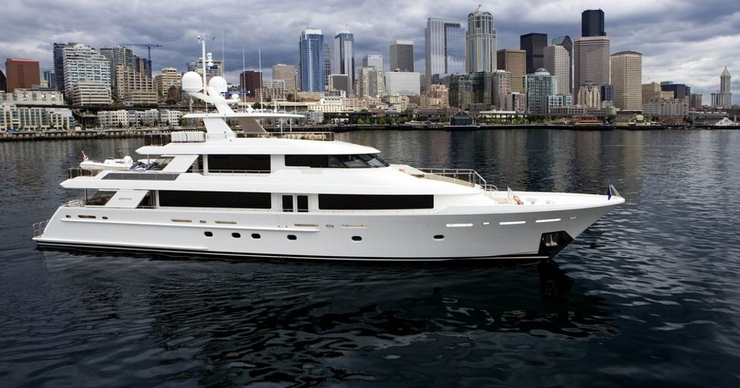 motor yacht 'Far Niente' attending Newport Charter Show 2015