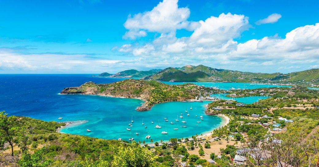 Aerial view of Antigua, Caribbean