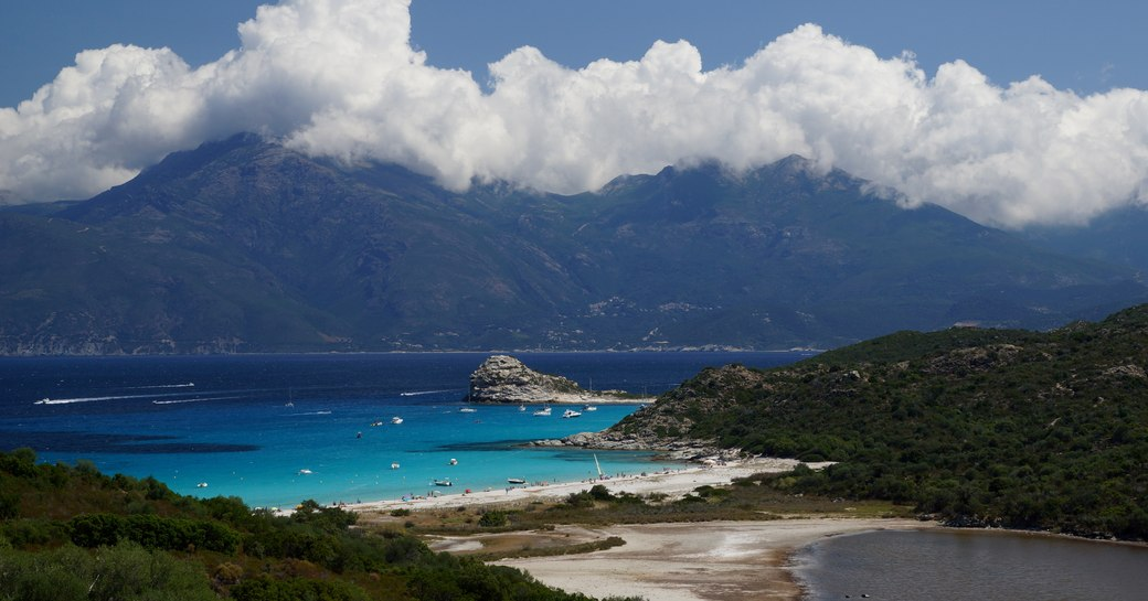 Lodo beach in the west of Corsica