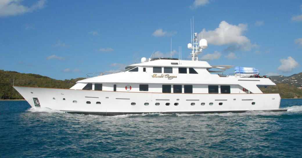 superyacht Sweet Escape cruising in the Caribbean on a luxury yacht charter