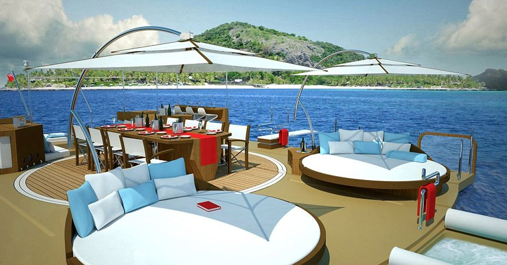 floating island future innovative feature on charter yachts