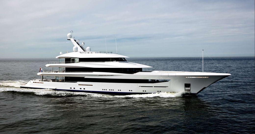 Feadship superyacht JOY underway