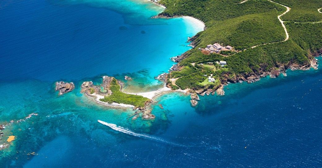 Aerial view of Virgin Islands