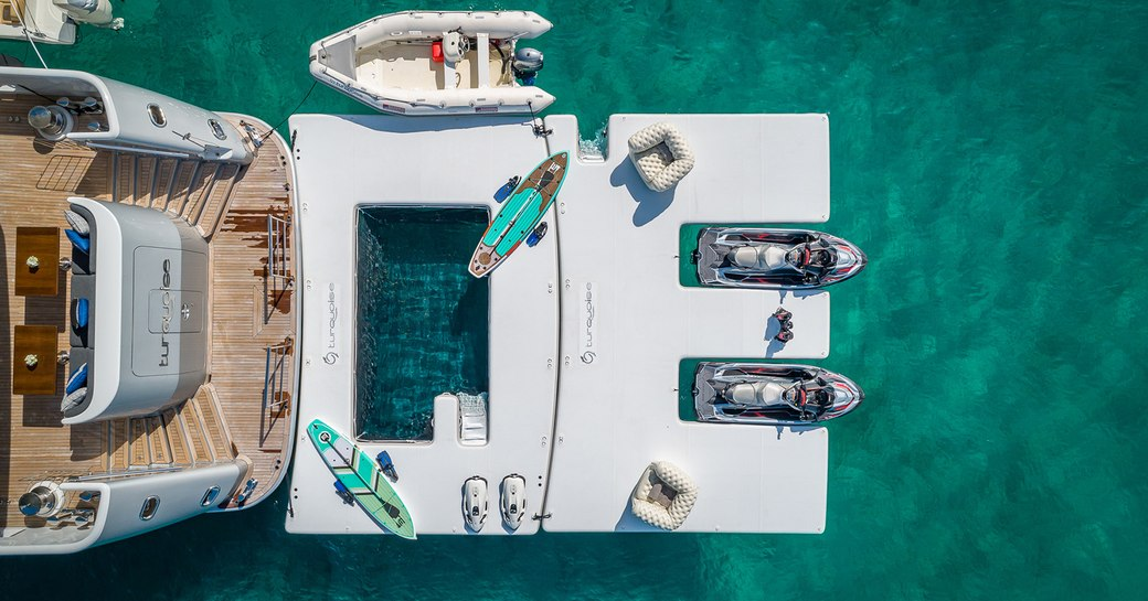 Aft deck of Turquoise