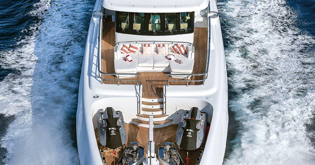 motor yacht audaces upper deck
